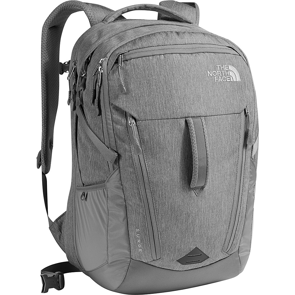 The North Face Surge Laptop Backpack - 15 Tnf Medium Grey Heather/Zinc Grey - The North Face Business & Laptop Backpacks - Backpacks, Business & Laptop Backpacks