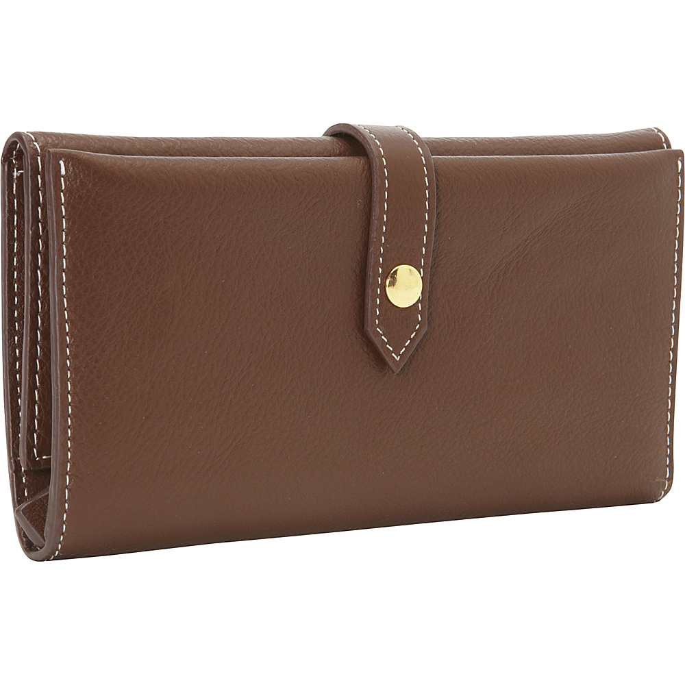 Clava Tri Fold Women s Wallet Brown Clava Women s Wallets