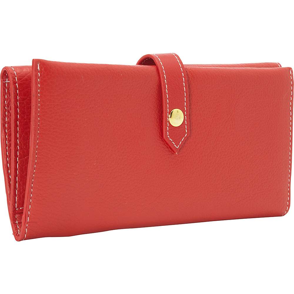 Clava Tri-Fold Women's Wallet Red - Clava Women's Wallets
