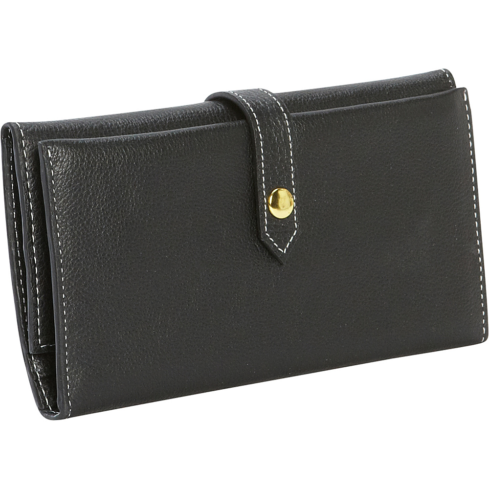 Clava Tri Fold Women s Wallet Black Clava Women s Wallets