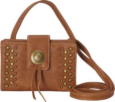 Image of American West - Game Girl Stadium Crossbody (Tan) Cross Body Handbags