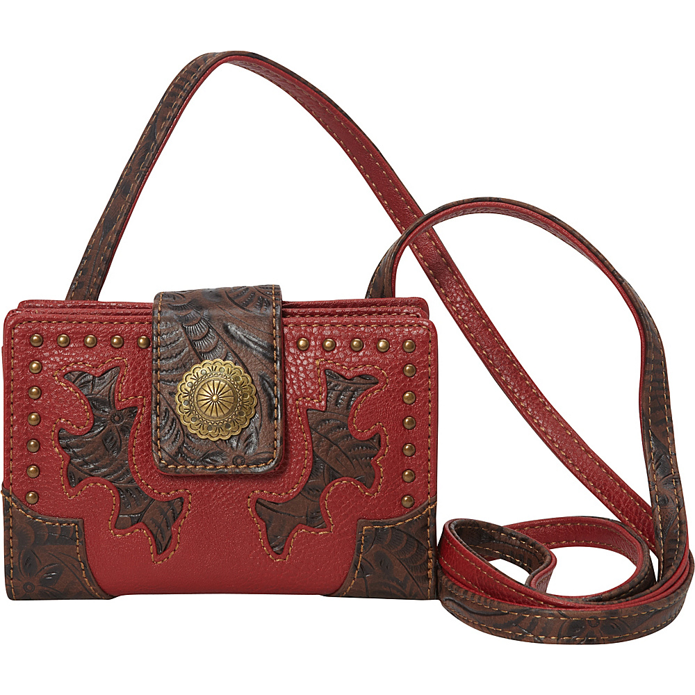 Bandana Game Girl Organized Crossbody Red - Bandana Manmade Handbags