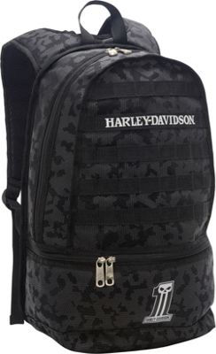 Harley Davidson by Athalon Night Ops Backpack Black - Harley Davidson by Athalon Everyday Backpacks