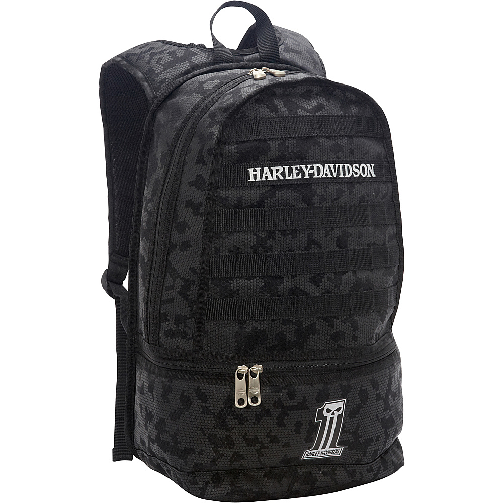 Harley Davidson by Athalon Night Ops Backpack Black Harley Davidson by Athalon Everyday Backpacks