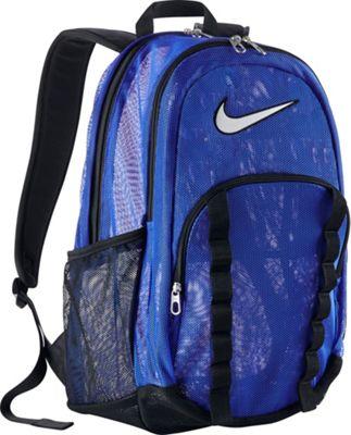 Nike Brasilia 7 Backpack Mesh XL Game Royal/Black/White - Nike School & Day Hiking Backpacks