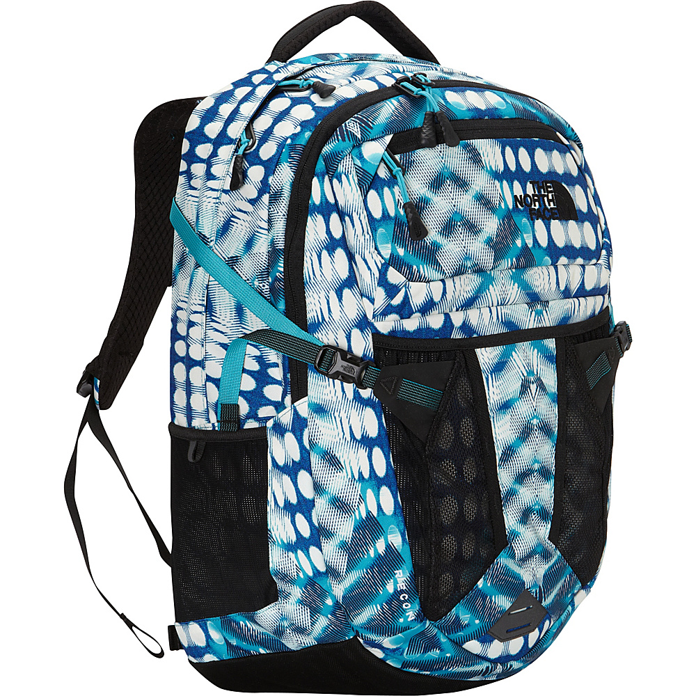 The North Face Women s Recon Laptop Backpack Bluebird Diamond Dot Print The North Face Business Laptop Backpacks