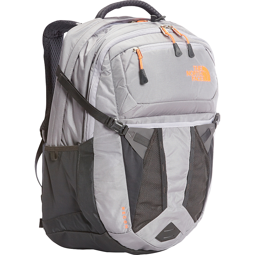 The North Face Women s Recon Laptop Backpack Dapple Grey Heather Tropical Coral The North Face Business Laptop Backpacks