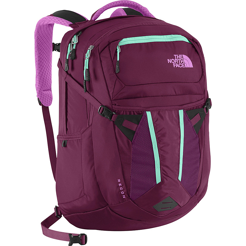 The North Face Women s Recon Laptop Backpack Pamplona Purple Bonnie Blue The North Face Business Laptop Backpacks