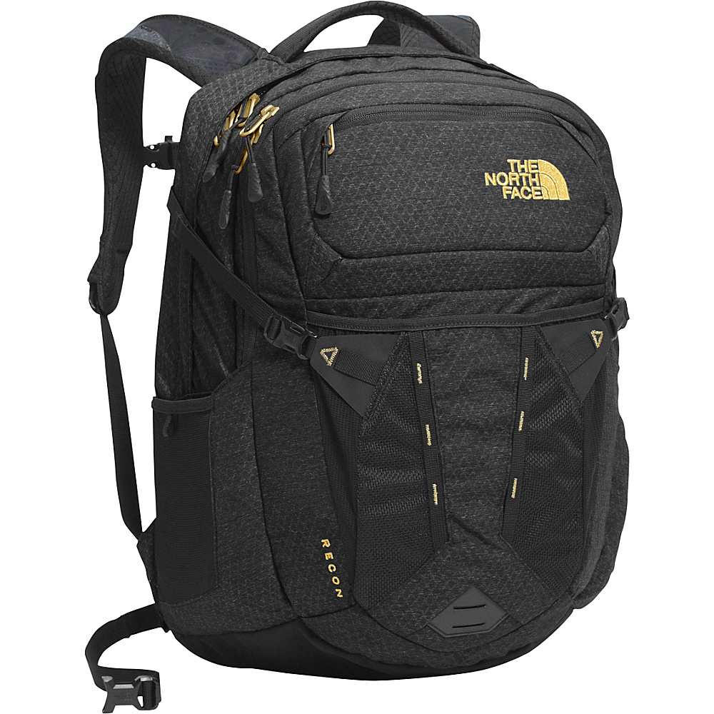 The North Face Women s Recon Laptop Backpack TNF Black 24K Gold The North Face Business Laptop Backpacks