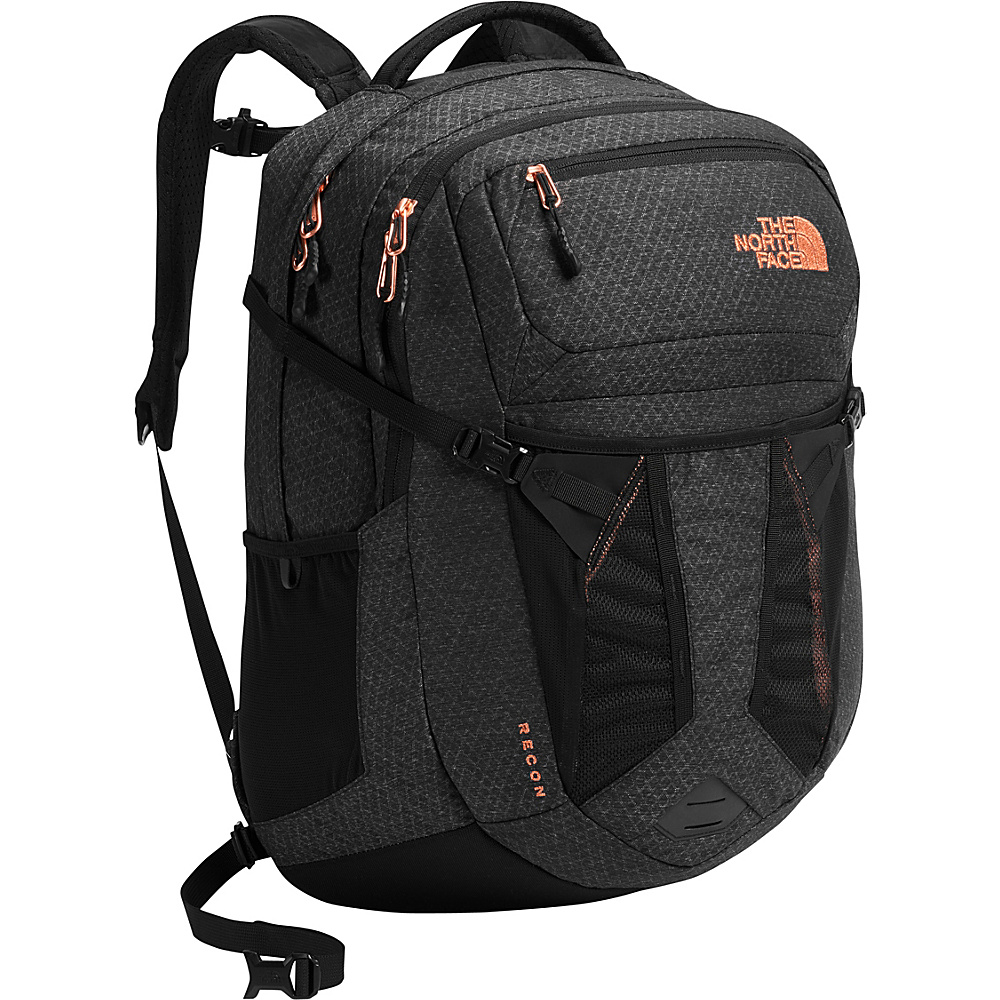 The North Face Womens Recon Laptop Backpack - 15 TNF Black Heather - The North Face Business & Laptop Backpacks - Backpacks, Business & Laptop Backpacks