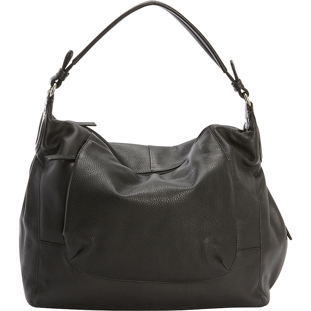 Derek Alexander Large Top Zip Shoulder Bag Black - Derek Alexander Leather Handbags - Handbags, Leather Handbags