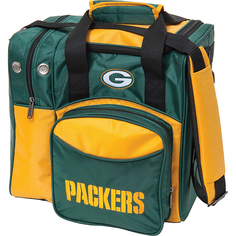 KR Strikeforce Bowling NFL Single Bowling Ball Tote Bag Green Bay Packers KR Strikeforce Bowling Bowling Bags