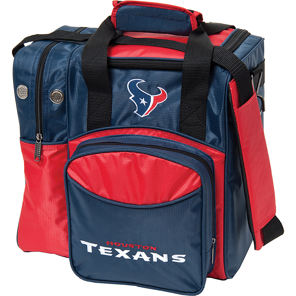 KR Strikeforce Bowling NFL Single Bowling Ball Tote Bag Houston Texans KR Strikeforce Bowling Bowling Bags