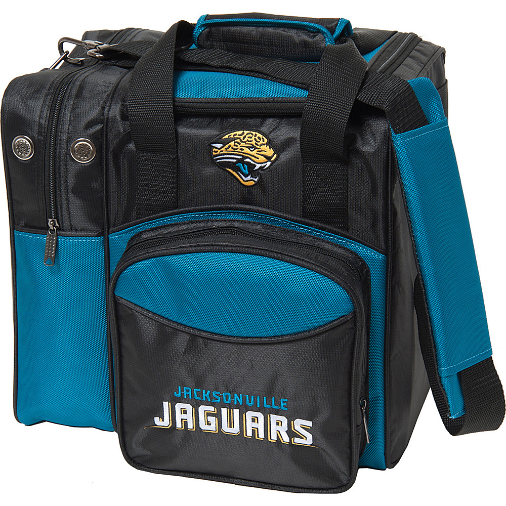 KR Strikeforce Bowling NFL Single Bowling Ball Tote Bag Jacksonville Jaguars KR Strikeforce Bowling Bowling Bags