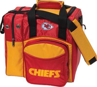 KR Strikeforce Bowling NFL Single Bowling Ball Tote Bag Kansas City Chiefs - KR Strikeforce Bowling Bowling Bags