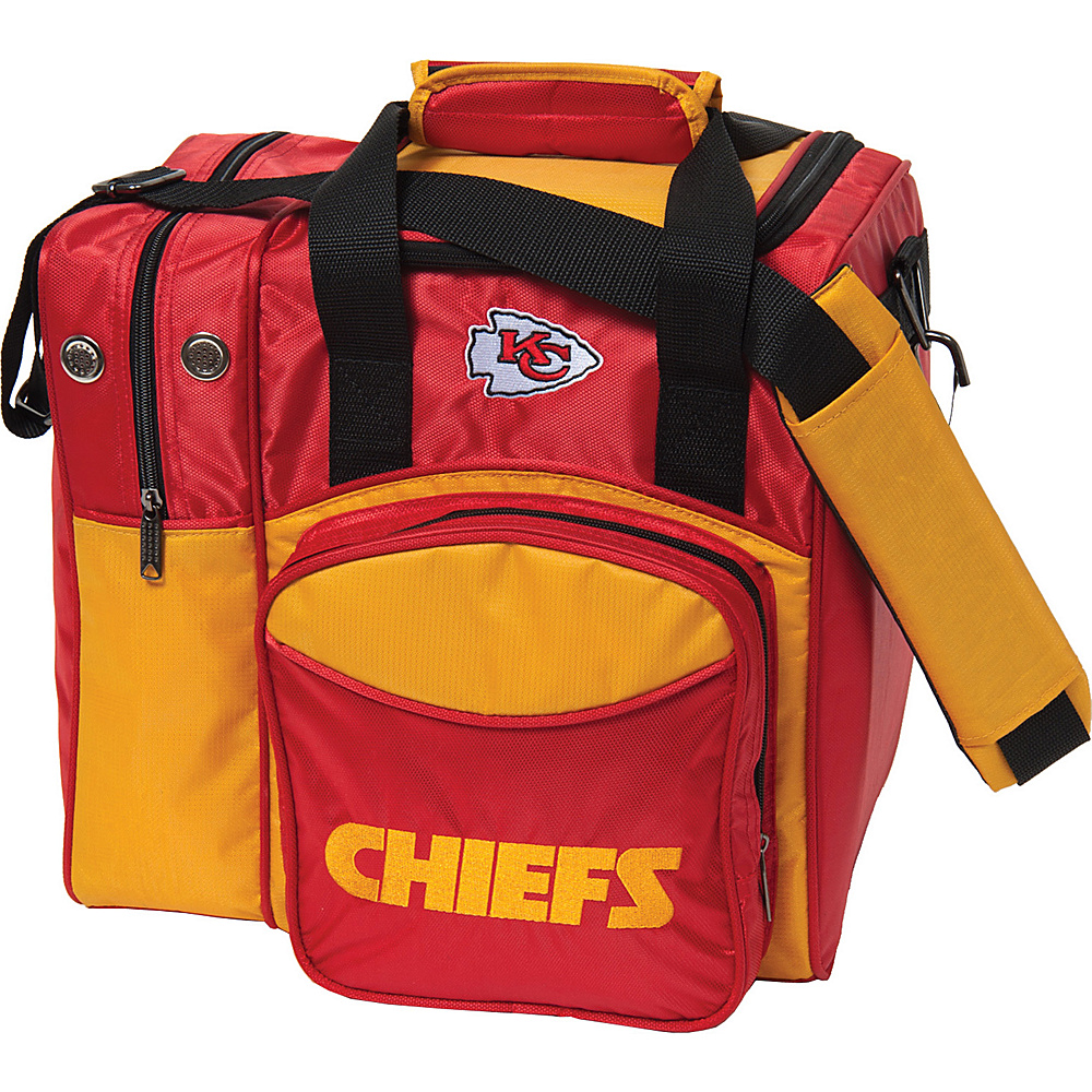 KR Strikeforce Bowling NFL Single Bowling Ball Tote Bag Kansas City Chiefs KR Strikeforce Bowling Bowling Bags