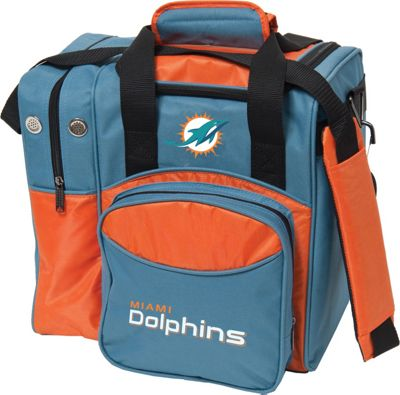 KR Strikeforce Bowling NFL Single Bowling Ball Tote Bag Miami Dolphins - KR Strikeforce Bowling Bowling Bags