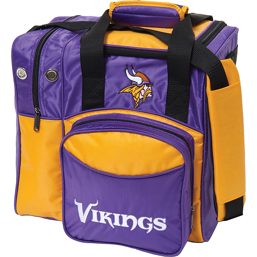 KR Strikeforce Bowling NFL Single Bowling Ball Tote Bag Minnesota Vikings KR Strikeforce Bowling Bowling Bags