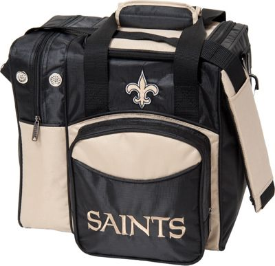 KR Strikeforce Bowling KR Strikeforce Bowling NFL Single Bowling Ball Tote Bag New Orleans Saints - KR Strikeforce Bowling Bowling Bags
