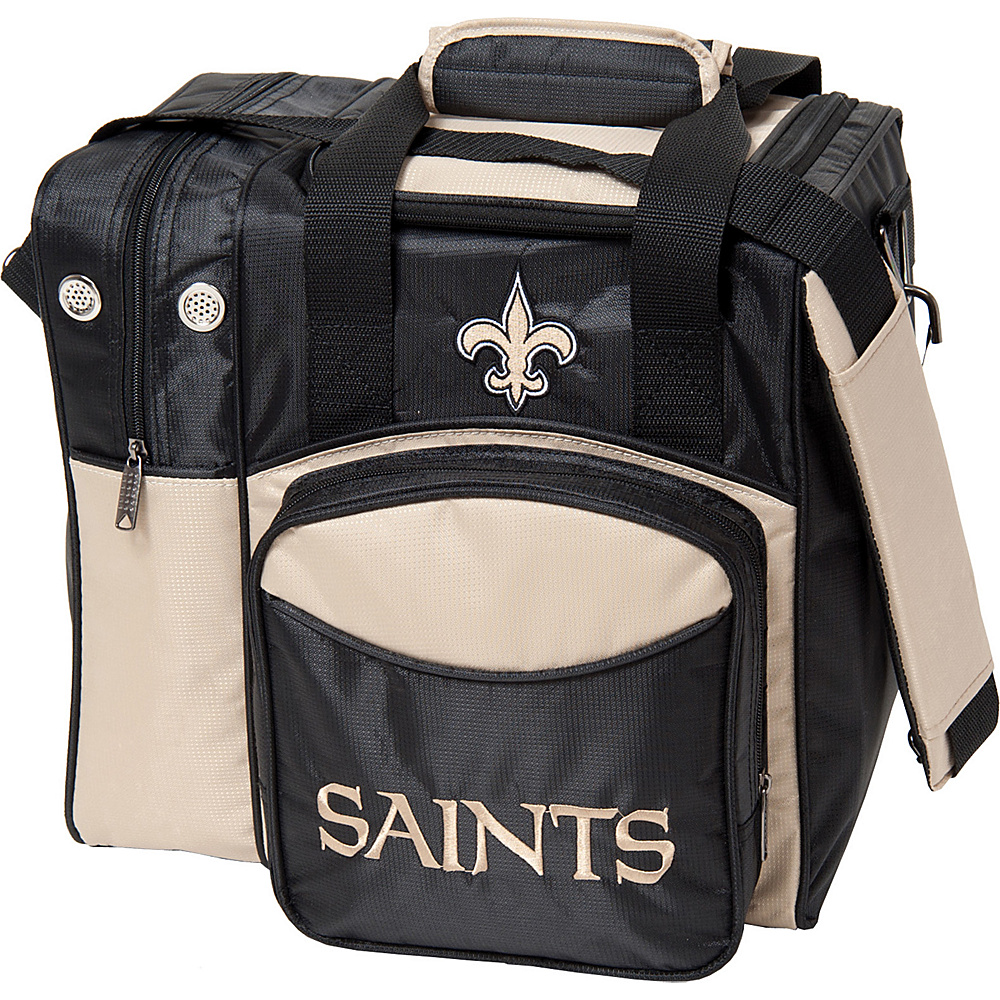 KR Strikeforce Bowling NFL Single Bowling Ball Tote Bag New Orleans Saints KR Strikeforce Bowling Bowling Bags