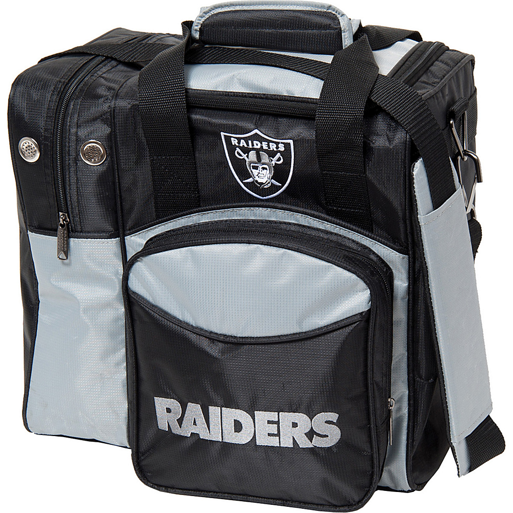 KR Strikeforce Bowling NFL Single Bowling Ball Tote Bag Oakland Raiders KR Strikeforce Bowling Bowling Bags