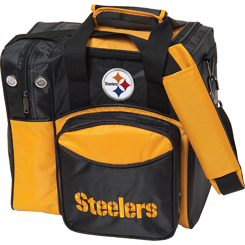 KR Strikeforce Bowling NFL Single Bowling Ball Tote Bag Pittsburgh Steelers KR Strikeforce Bowling Bowling Bags