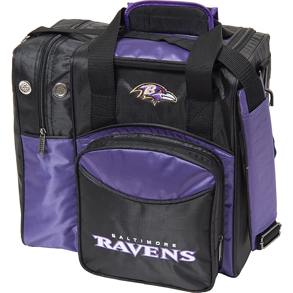 KR Strikeforce Bowling NFL Single Bowling Ball Tote Bag Baltimore Ravens KR Strikeforce Bowling Bowling Bags