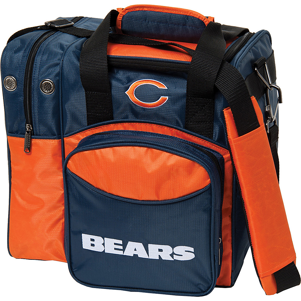 KR Strikeforce Bowling NFL Single Bowling Ball Tote Bag Chicago Bears KR Strikeforce Bowling Bowling Bags