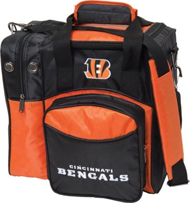 KR Strikeforce Bowling NFL Single Bowling Ball Tote Bag Cincinnati Bengals - KR Strikeforce Bowling Bowling Bags