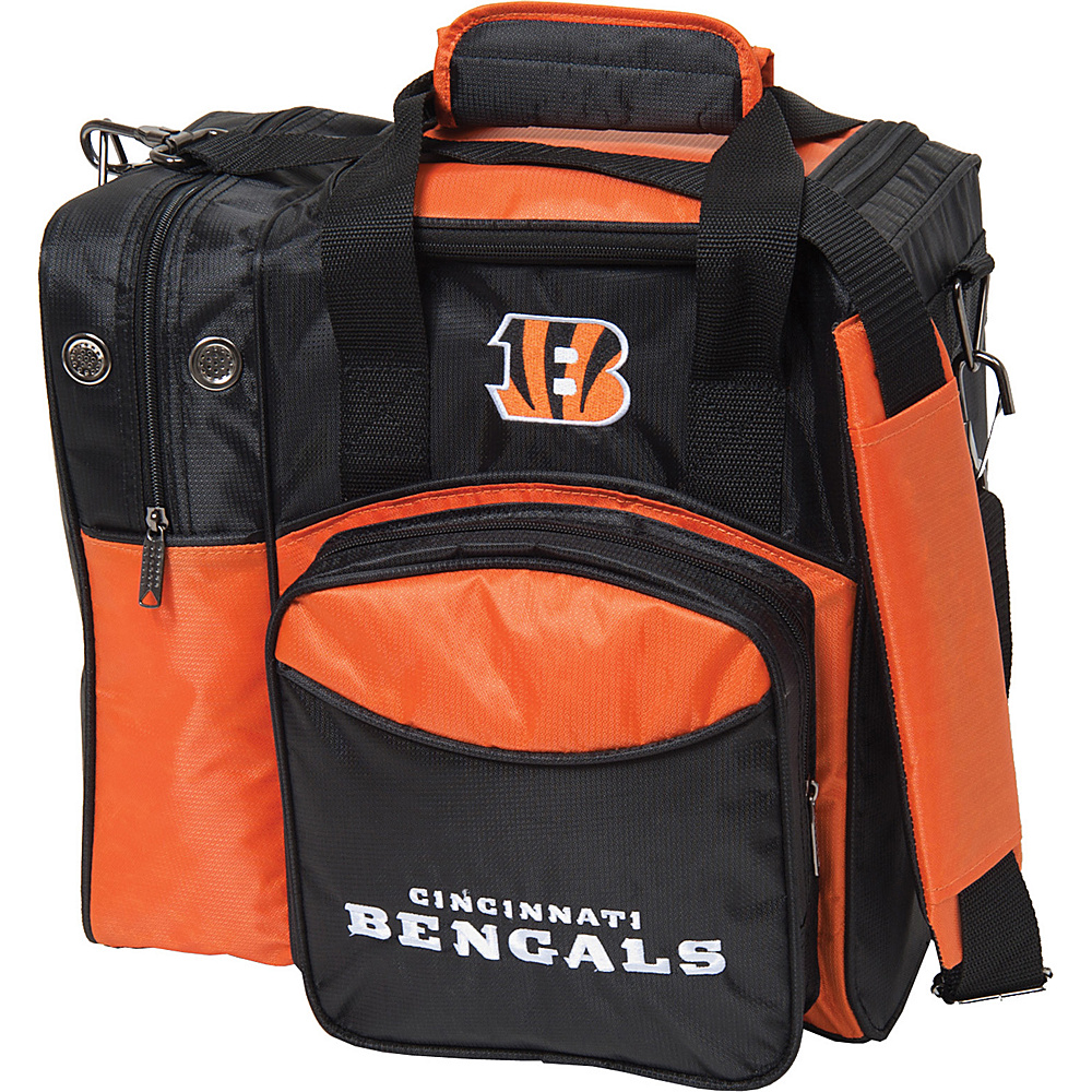 KR Strikeforce Bowling NFL Single Bowling Ball Tote Bag Cincinnati Bengals KR Strikeforce Bowling Bowling Bags