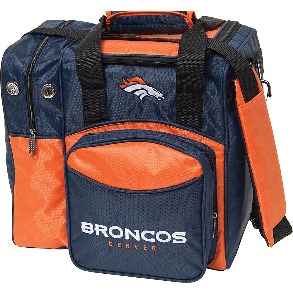 KR Strikeforce Bowling NFL Single Bowling Ball Tote Bag Denver Broncos KR Strikeforce Bowling Bowling Bags