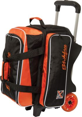 KR Strikeforce Bowling KR Strikeforce Bowling Krush Double Bowling Ball Roller Bag Black/Orange - KR Strikeforce Bowling Bowling Bags