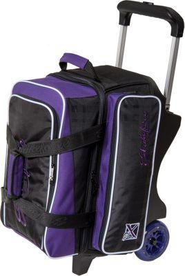 KR Strikeforce Bowling Krush Double Bowling Ball Roller Bag Purple/Black - KR Strikeforce Bowling Bowling Bags