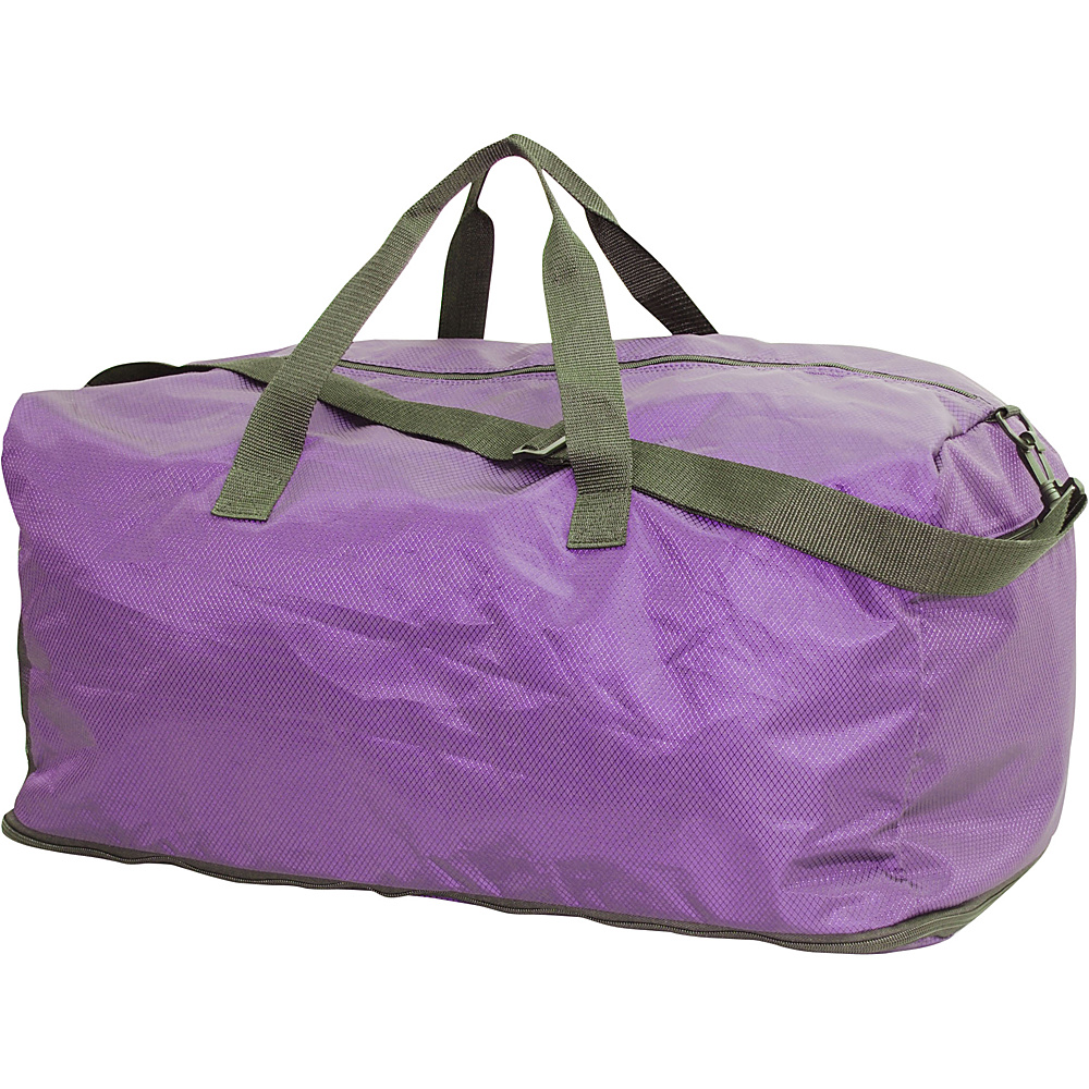 Netpack U Zip Expandable Packable Duffel Purple Netpack Rolling Duffels