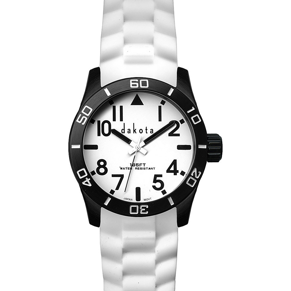 Dakota Watch Company Oversized Aluminum Diver Watch White/Black - Dakota Watch Company Watches