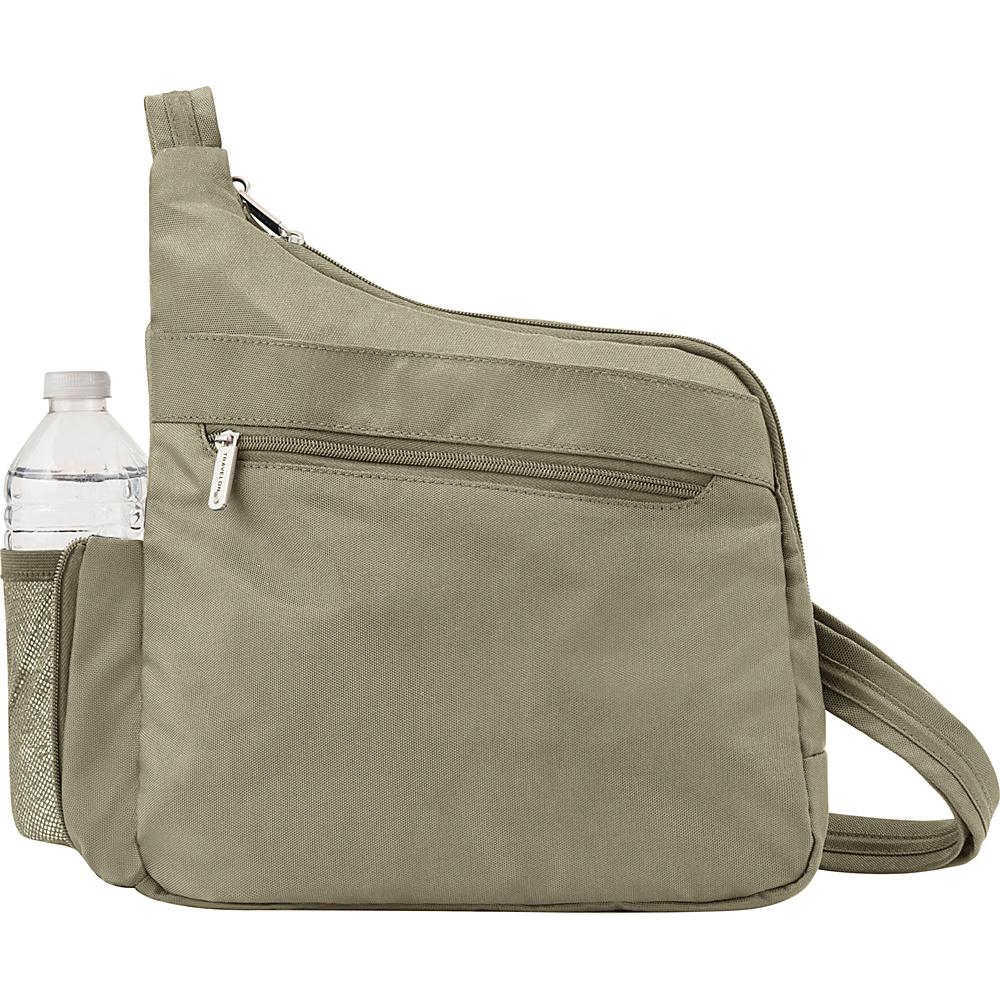 Travelon Anti-theft Classic Messenger Style Crossbody Stone - Travelon Fabric Handbags - Handbags, Fabric Handbags