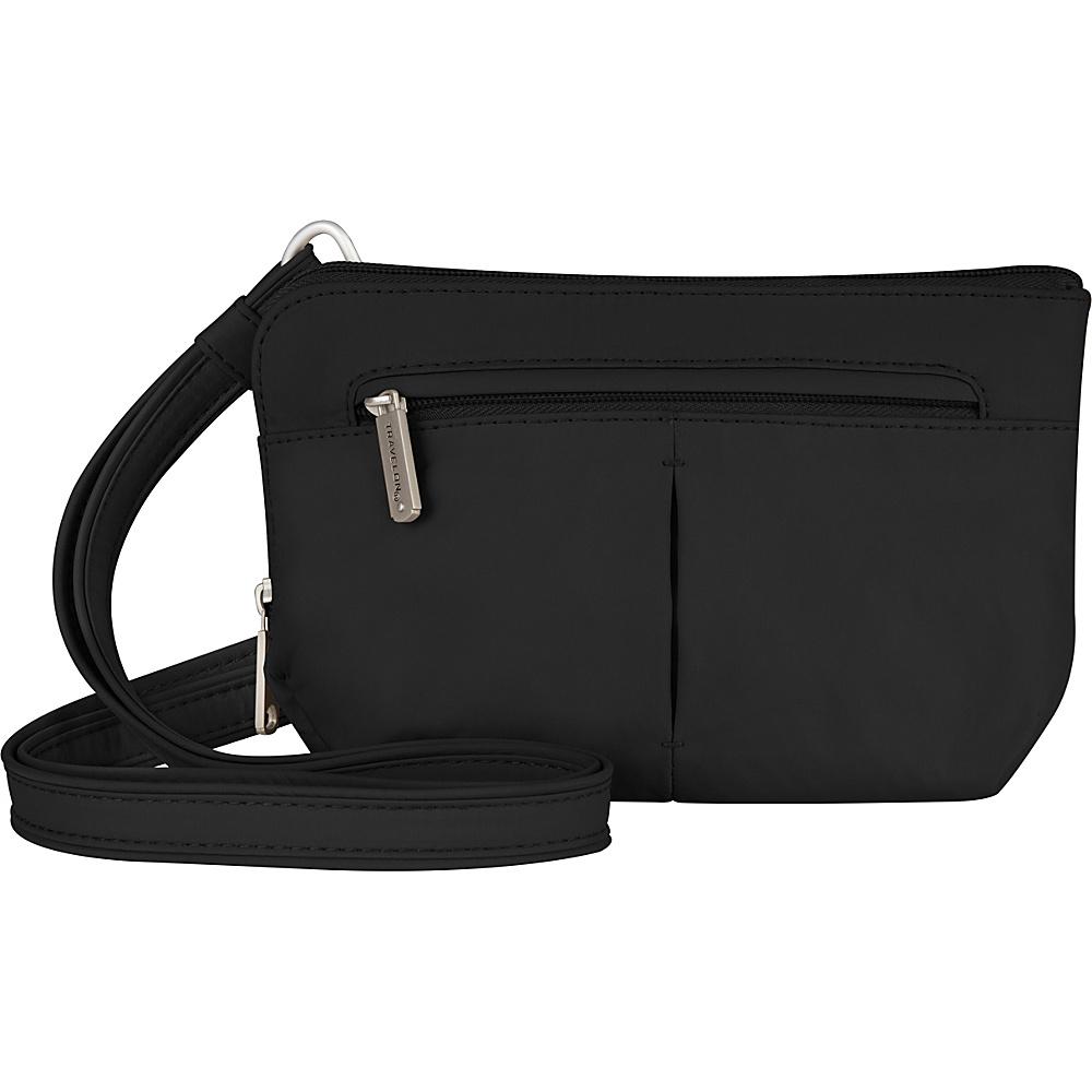 Travelon Anti-Theft Classic Light Convertible Crossbody and Waistpack Black/Gray - Travelon Fabric Handbags - Handbags, Fabric Handbags