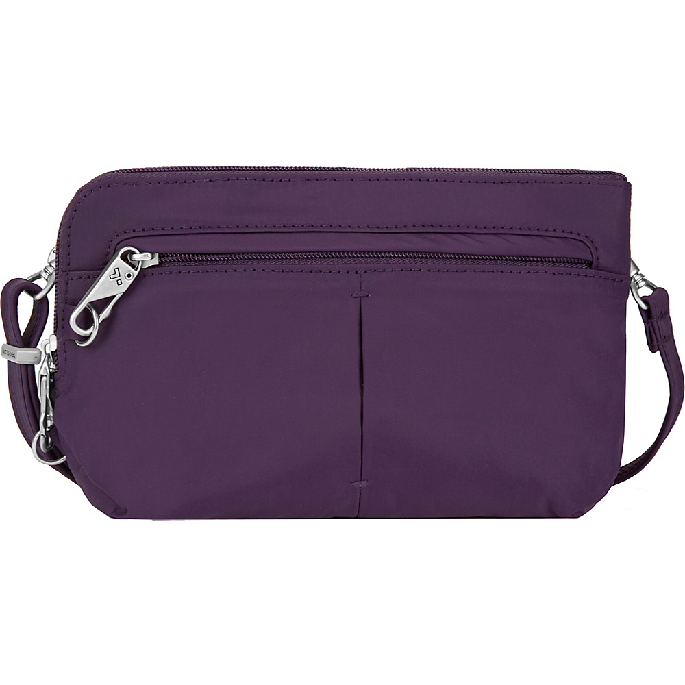 Travelon Anti-Theft Classic Light Convertible Crossbody and Waistpack Purple/Sand - Travelon Fabric Handbags - Handbags, Fabric Handbags