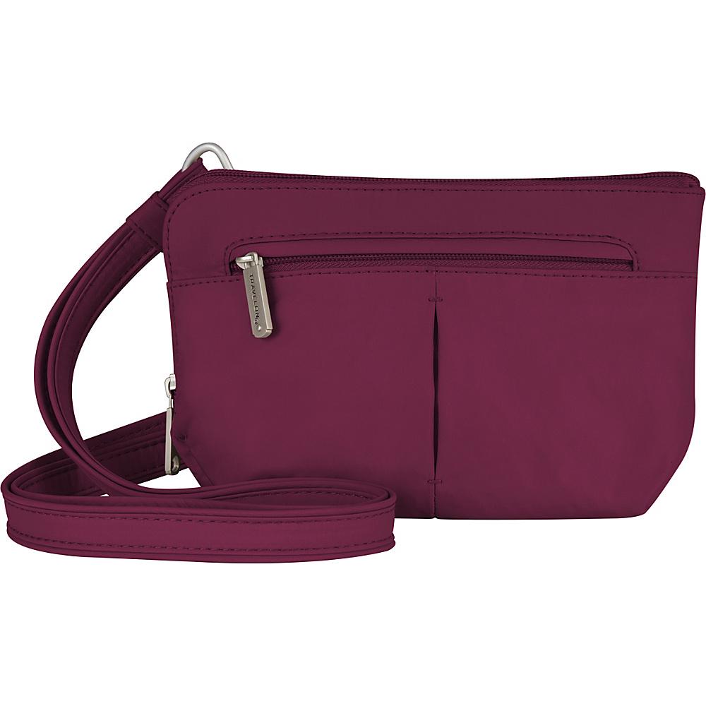 Travelon Anti-Theft Classic Light Convertible Crossbody and Waistpack Berry/Gray - Travelon Fabric Handbags - Handbags, Fabric Handbags