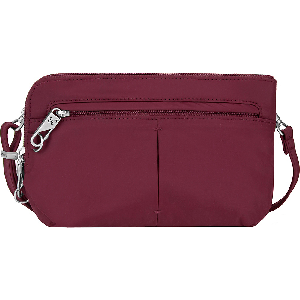 Travelon Anti-Theft Classic Light Convertible Crossbody and Waistpack Berry/Gray - Travelon Fabric Handbags - Handbags, Fabric Handbags