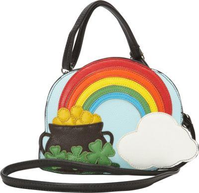 Ashley M The End Of The Rainbow Crossbody Bag Multi - Ashley M Manmade Handbags