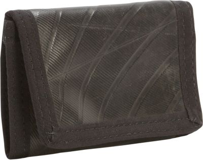 Green Guru Bike Tube Tri-Fold Wallet Black - Green Guru Men's Wallets