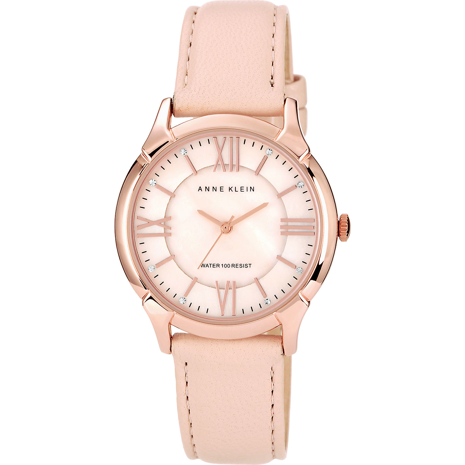 anne klein rose gold tone watch