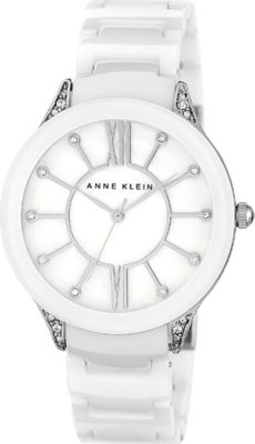 Anne Klein Watches Swarovski Crystal Accented White Ceramic Bracelet Watch White - Anne Klein Watches Watches
