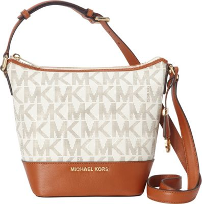 MICHAEL Michael Kors Bedford Monogrammed Small Messenger Vanilla - MICHAEL Michael Kors Designer Handbags