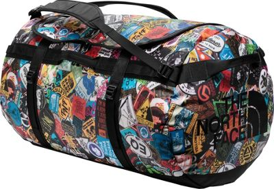 The North Face Base Camp Duffel X-Large Tnf Red Sticker Bomb Print/Black - The North Face Outdoor Duffels