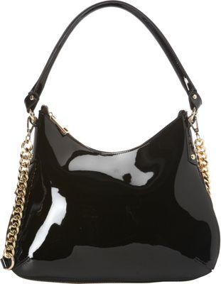 Tiffany & Fred Isabella Hobo Black Patent - Tiffany & Fred Leather Handbags