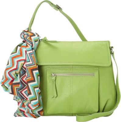 Hadaki Tania Crossbody Piquat Green - Hadaki Leather Handbags