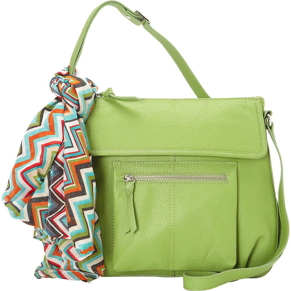 Hadaki Tania Crossbody Piquat Green - Hadaki Leather Handbags - Handbags, Leather Handbags