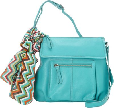 Hadaki Tania Crossbody Viridian Green - Hadaki Leather Handbags